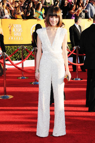 My fave from the SAG Awards. Why? Because she's the only woman in pants.