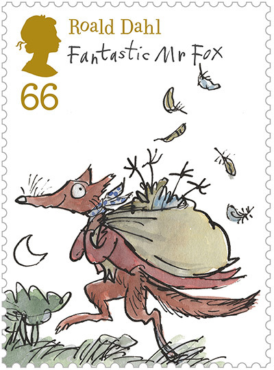 Taken from the Roald Dahl Stamp Set, illustrated by Quentin Blake Available from the Royal Mail as part of their 2012 Special Stamp programme