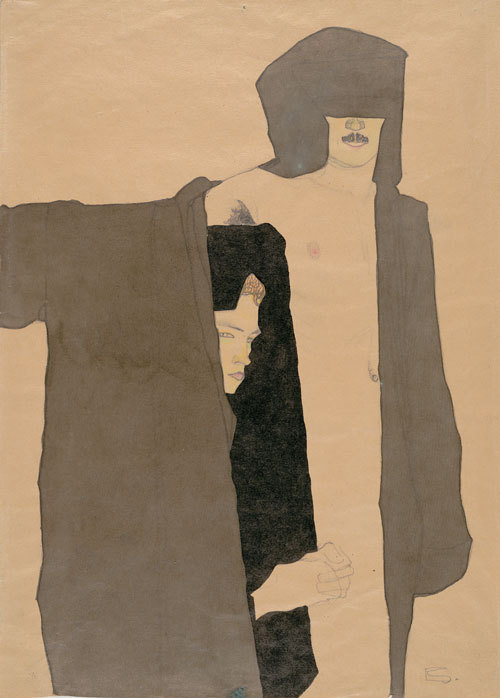 Egon Schiele: The Couple, 1909.