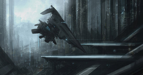 motherfuckinscifi:  Docking on P-66 by Othniel King