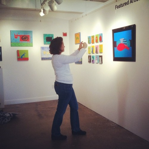 One of my favorite artists, Charla Wilkerson, finishing installing her duo show!  #workhousearts #DCarts  (Taken with Instagram at Workhouse Arts Center)