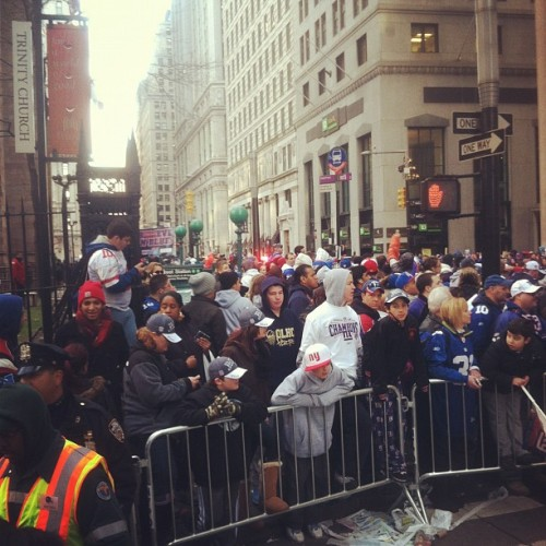 A boisterous crowd for the Giants parade. (Taken with instagram)