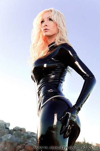 The always alluring, latex-clad Sway.
