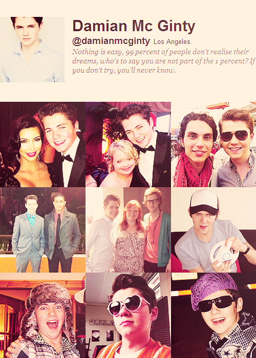 grahamsheart:  The Glee Cast on Twitter » Damian McGinty
