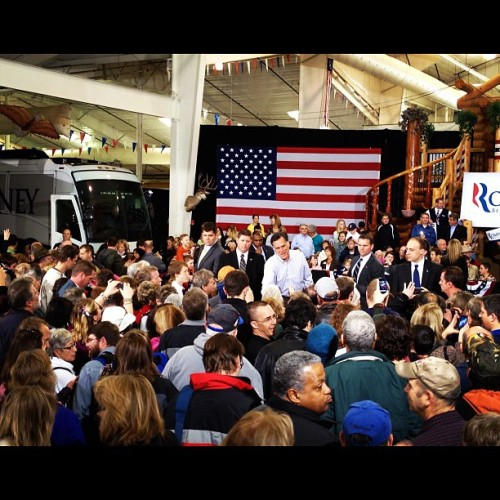Mitt Romney in Loveland CO (Taken with instagram)