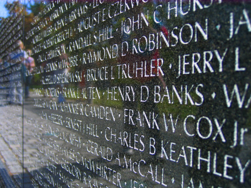 Names, Vietnam Veterans Memorial, Washington, D.C.