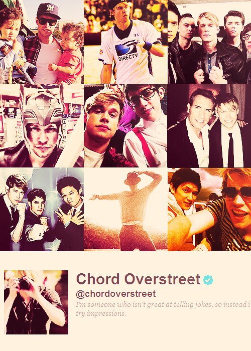 grahamsheart:  The Glee Cast on Twitter » Chord Overstreet