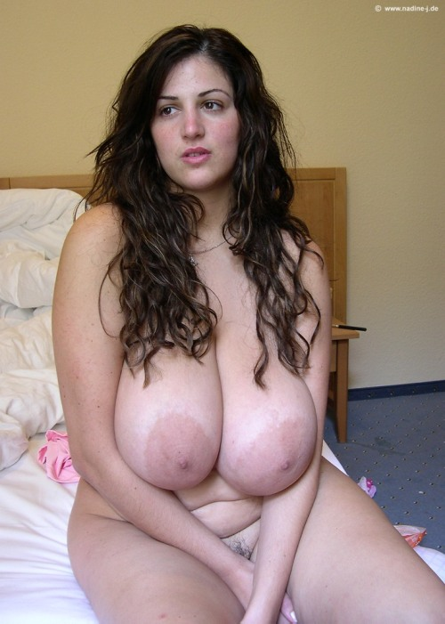 Gorgeous chubby woman with huge tits.