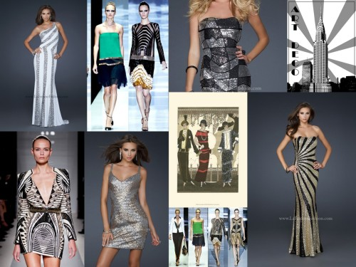 Channel the 1920s Art Deco movement this season as seen in Balmain, Gucci and Hermes runway shows.
