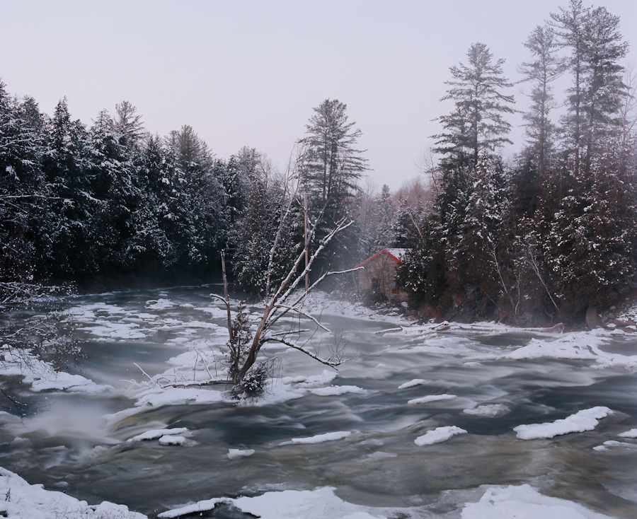 Coaticook river, 2011made at the same place and at the same time as this photograph