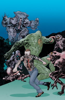 "The ANIMAL MAN ANNUAL #1 written by ongoing series writer Jeff Lemire with art by up and coming artist Timothy Green, II arrives in May! This oversized stand alone story details the history of the epic struggle between the forces of The Red, The Green and The Rot as seen in the pages of ANIMAL MAN and SWAMP THING. ""There's nothing I love more than writing ANIMAL MAN. Since the book launched in September, Joey Cavalieri and the team at DC have given me an incredible amount of trust to craft a big sprawling story about life, death, family and pets. So I was especially excited when they asked me to write a new 48 page ANIMAL MAN story for the upcoming ANIMAL MAN ANNUAL #1. I saw it as a great chance to expand upon the mythology of The Red, The Green and The Rot, but also to tell a satisfying story that can stand on it's own as well,"" said Jeff Lemire. ""In many ways this Annual is like a prequel to the crossover storyline that Scott Snyder and I have planned for ANIMAL MAN and SWAMP THING. But the best part is that I get to work with Timothy Green II. I've been a fan of Timothy's since I first saw his work a few years back and I was really excited when Joey told me he would be drawing the Annual. I've seen the first few pages of art and man, is it gorgeous. He draws a great Swamp Thing and an even better Maxine!"" Pick it up this May. Until then, here's the first look at the cover by Travel Foreman: via The Source"