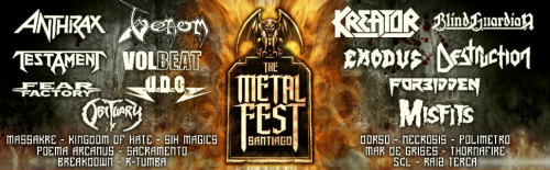 Cambio en el line-up del Metal fest Chile