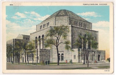 Temple Sholom, 3480 N Lake Shore Drive, at Stratford, c.1928, Chicago.