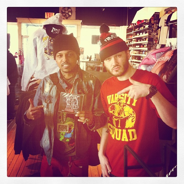 Shout @TOLLYBANDZ just copped the VS album down @timebombshop #pittsburgh (Taken with instagram)