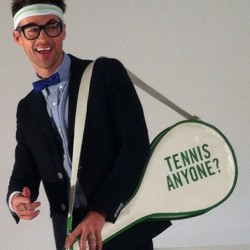 katespadeny:  tennis with @mrbradgoreski anyone? (Taken with instagram)