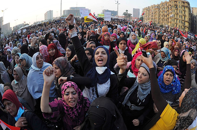 Egypt's feminists prepare for a long battle |   Women in the country say their struggle for equal rights is universal, whether the Islamists or military are in charge.