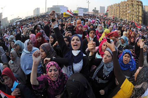 lucifelle:  Egypt's feminists prepare for a long battle  Women in the country say their struggle for equal rights is universal, whether the Islamists or military are in charge.