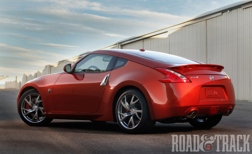 The 2013 Nissan 370Z receives styling updates. (Source: Road & Track)