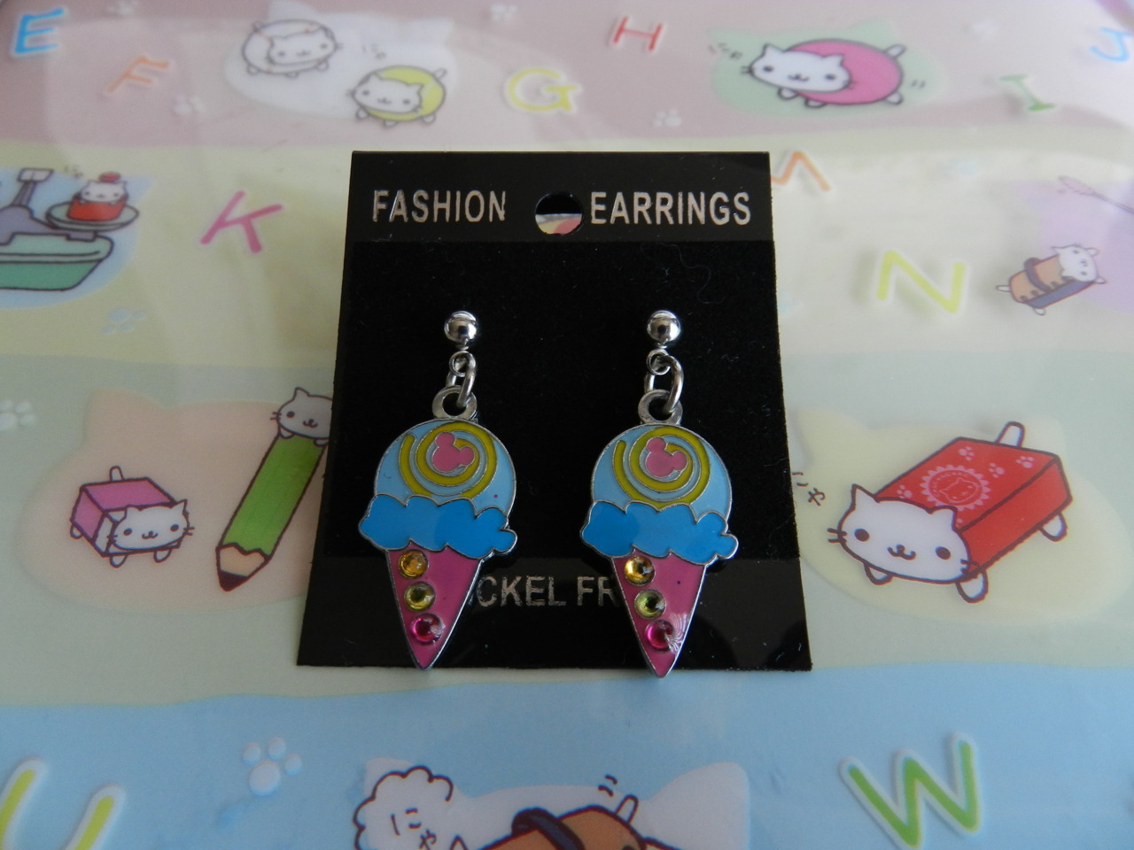 Mickey Ice Cream cone earrings~ ♡