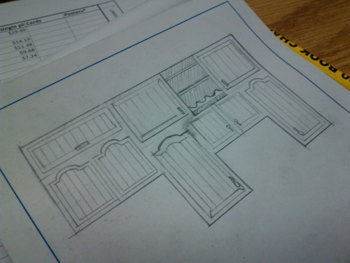 Cabinet design? I think so. Will be real this afternoon