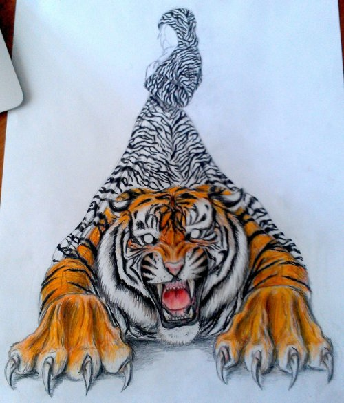 urhajos:  WIP 5: Tiger Colour, Lady Outlined Stripes by ~spyro-killed-malefor