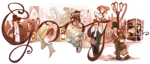 courtenaybird:  Charles Dickens' birthday marks first Google Doodle as promotional vehicle