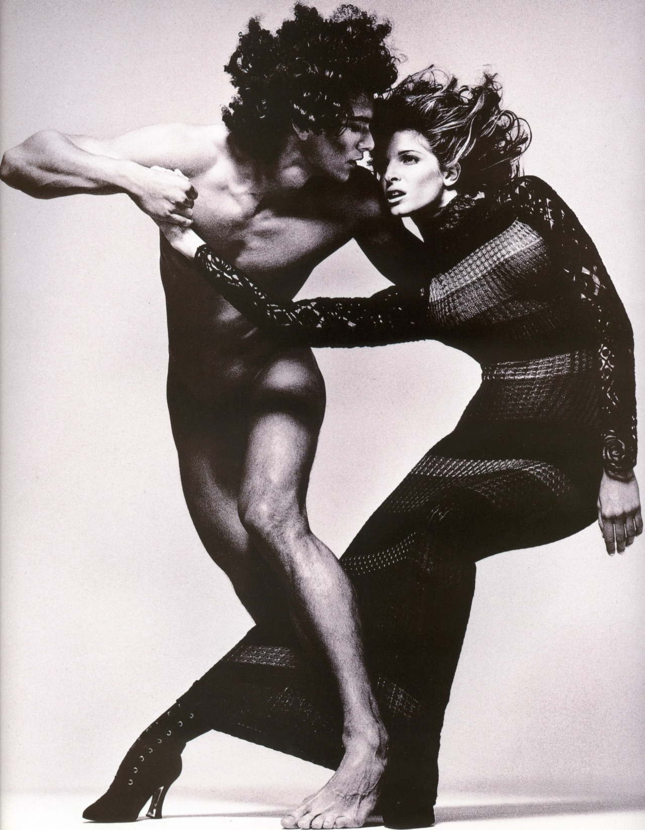 supermodelshrine:  Marcus and Stephanie for Versace, by Richard Avedon, 1993