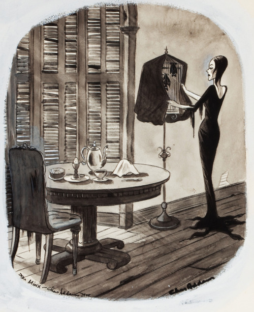 Illustration by Charles Addams c. 1940's