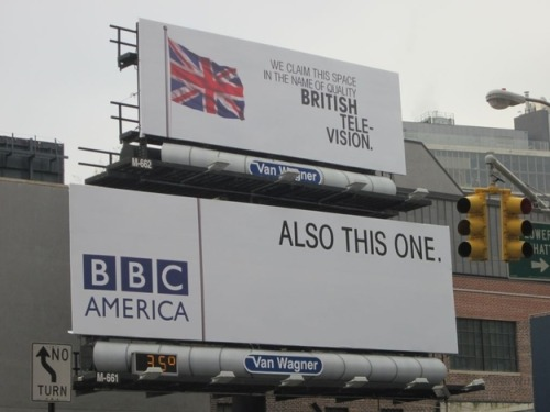 "Cheeky BBC Posters Invading America | BuzzFeed Also there's another Doctor Who one that reads, ""If you were a Time Lord you would have been home by now. Or 700 years ago."""