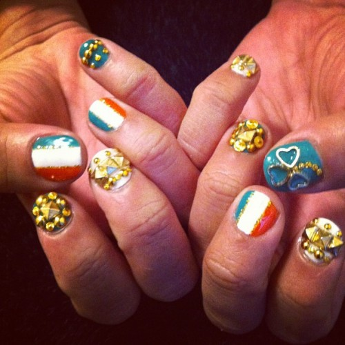 Irish #nailart  (Taken with instagram)