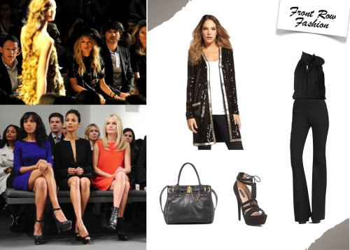rzrachelzoe:  Be sure to sign up for our Accesszoeries newsletter to discover fun ways to further accessorize your front row fashion look! xoRZ Get the look here: RZ Flare Pant II Long Linda Sequin Cardigan Farrow Top Daria Platform Zoe Tote