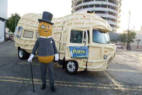 laughingsquid:  Planters Nutmobile, A Peanut-Shaped Vehicle Helps Mr. Peanut Tour