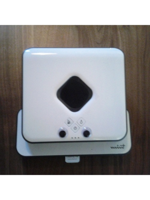 codingjester:  My new cleaning robot showed up today. He's awesome. His name is Mitch.  HELLO THERE MITCH. GOOD LUCK CLEANING UP AFTER THAT MEATBAG.