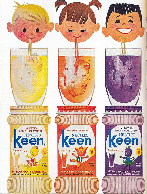 old-ads-and-mags:  Nestle's Keen ad, 1964