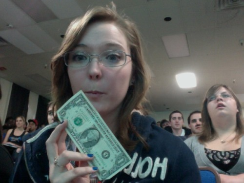 Dr. Weso gave me a dollar…  for a minute. x)