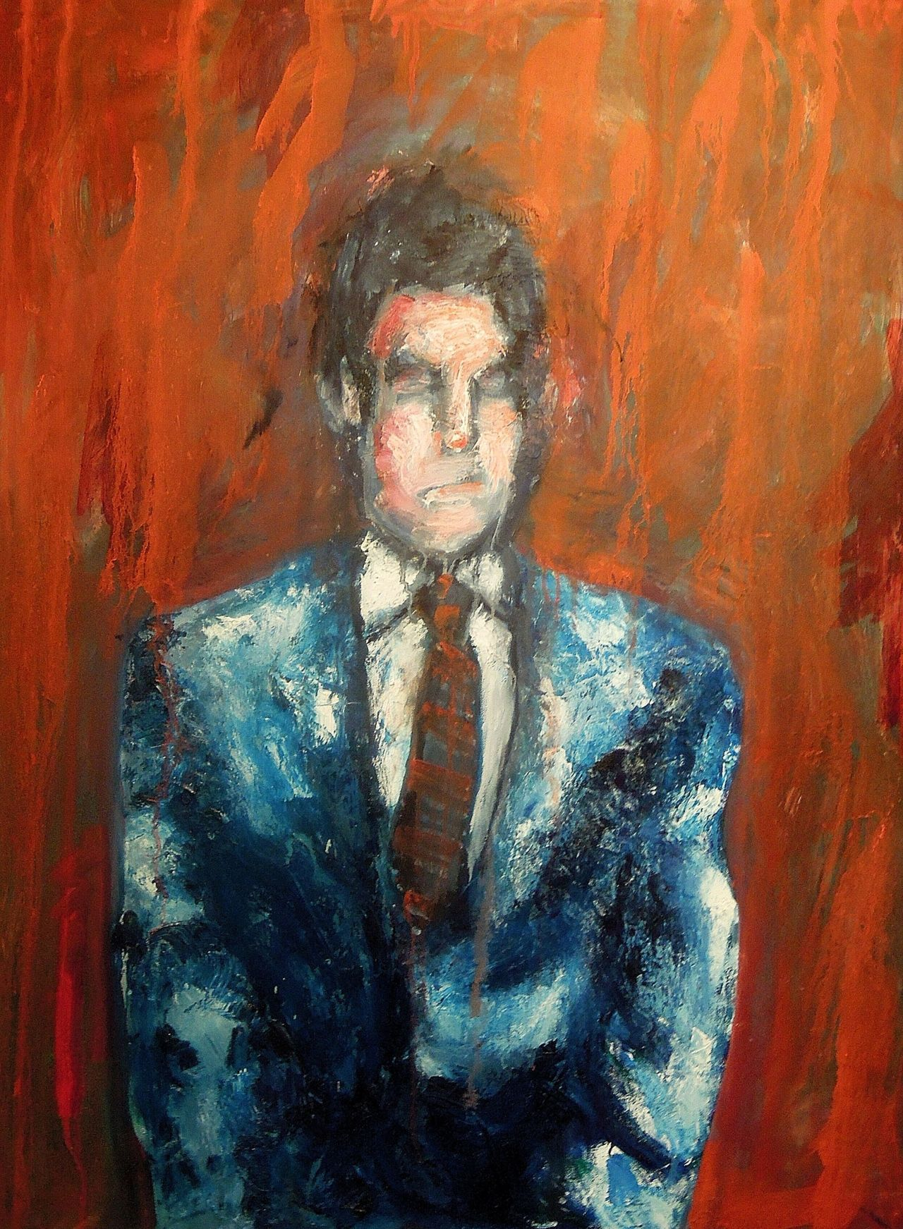 "Man in Suit30"" x 40""Oil on canvas2009"