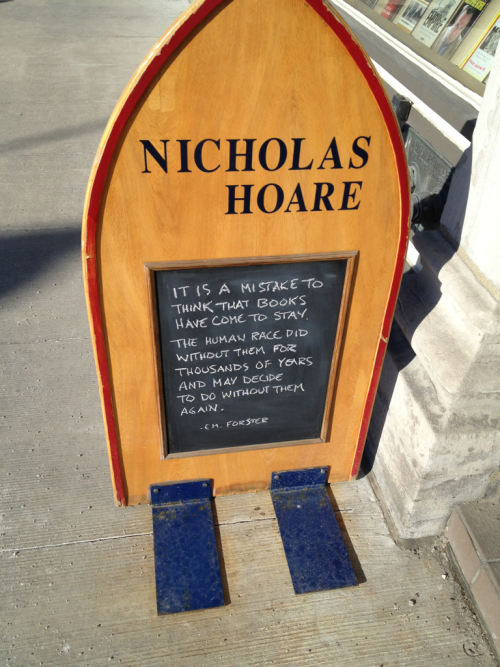 Ottawa 7th of February - Seen outside a bookstore
