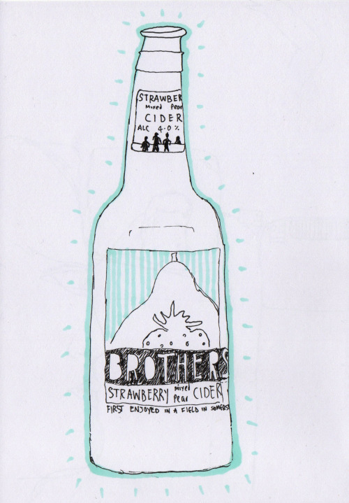 brothers cider, drawn in a pub in bristol