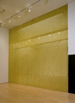 "A love letter to Felix Gonzalez-Torres's ""Untitled"" (Golden):  Dearest ""Untitled"" (Golden), I love your mischievousness, the way you stand up to all those stuffy ""do not touch"" signs.  I love your sensuousness, your desire to touch and be touched. And I love your sophistication, the way you drip with opulence and grace. XOXO, Jeff"