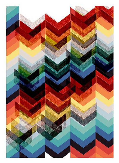 repossess:  mrseliotbooks chevron print by The Estate of Things on Flickr.