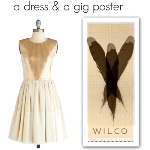dress by Modcloth, poster by Matt Pfahlert