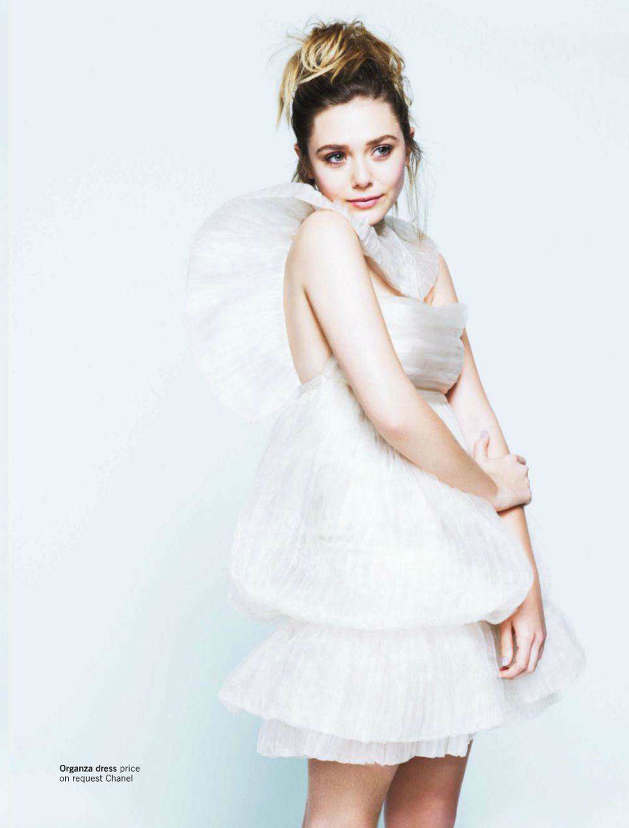 Elizabeth Olsen photographed by Pamela Hanson for Glamour UK, March 2012