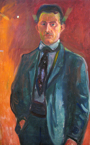artistandstudio:  Edvard Munch, Self-Portrait