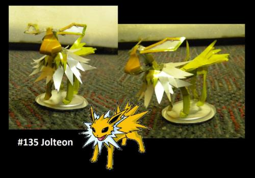 #135 Jolteon And the most recent (before I made this blog) is Jolteon. This one's also pretty awesome. Sorry about the lazy description, I'm listening to MBMBaM. It's distracting. BTW - A reblog of one of my photos = a follow of your blog (if I see that you did it, sorry if I miss someone)