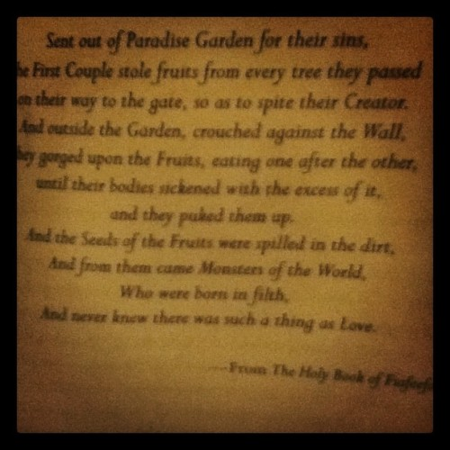I love the writing in this book.  (Taken with instagram)