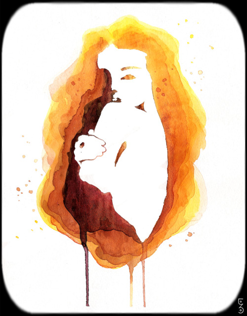 Amber by me watercolor on paper