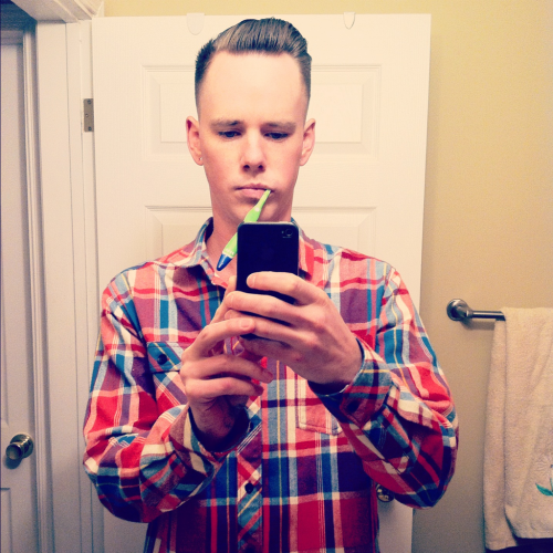 New #flannel and a trim today. It was a good day.
