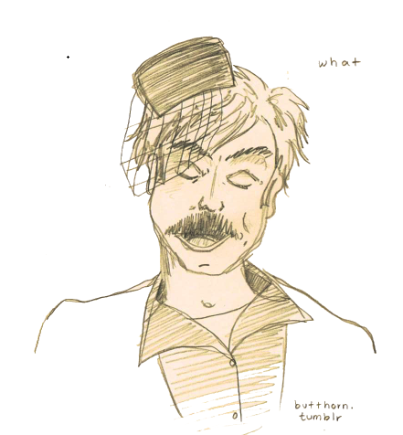 butthorn:  Someone asked me to draw drunk Ron Swanson today. I don't really take a lot of requests, but how could I not draw this?