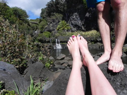 Feet! Seven sacred pools, Maui.