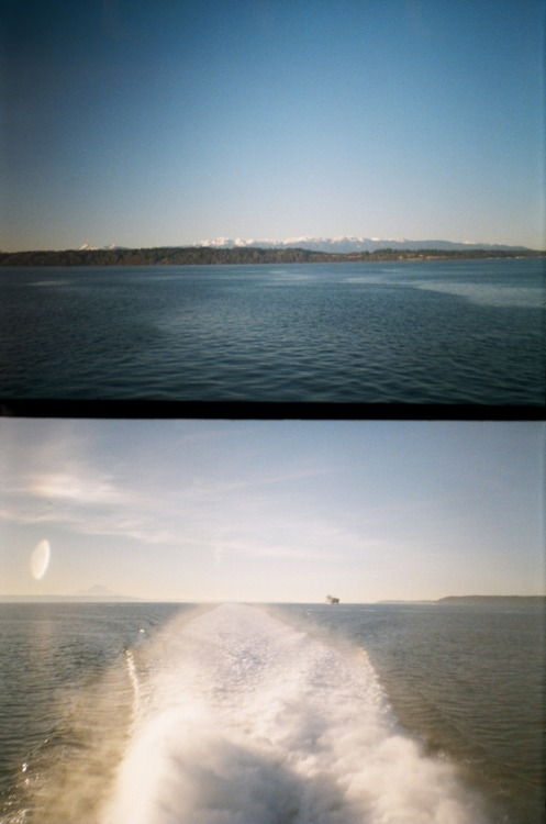 Heading across the Puget Sound, over International Waters, to Victoria, BC.